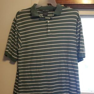 Green Haggar golf shirt